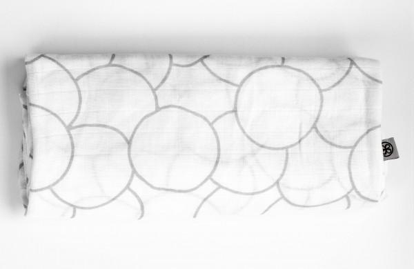 """cloby - Swaddle Tuch """"grau/weiß"""" 120 x 120 cm"""