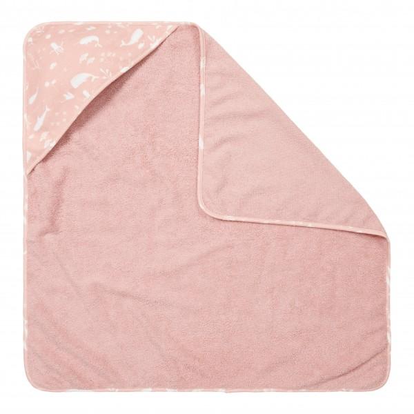 """Little Dutch - Kapuzenhandtuch """"Ocean Pink"""""""
