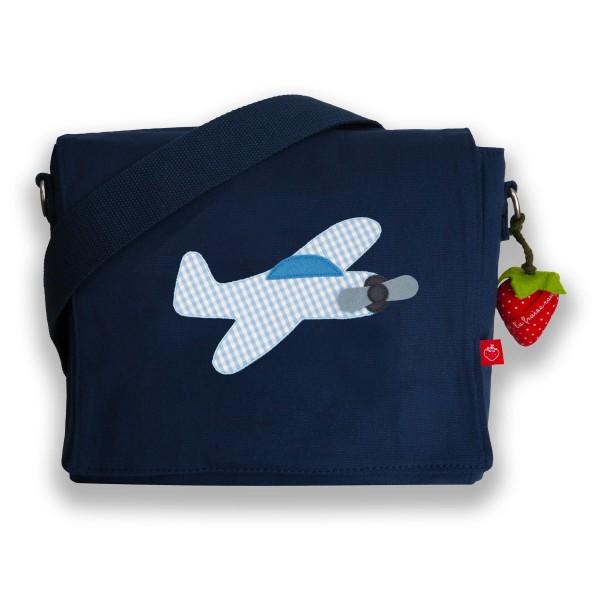 Kindergartentasche Flugzeug personalisierbar