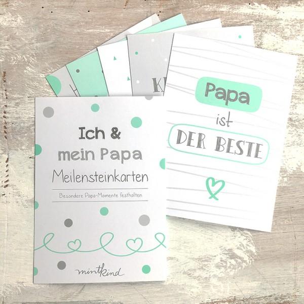 """Mintkind - Mini-Set """"Ich & mein Papa"""" min/grau"""