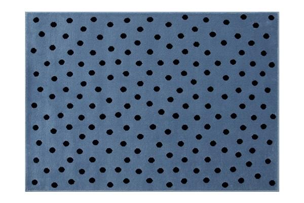 Kinderteppich Blau mit Punkten