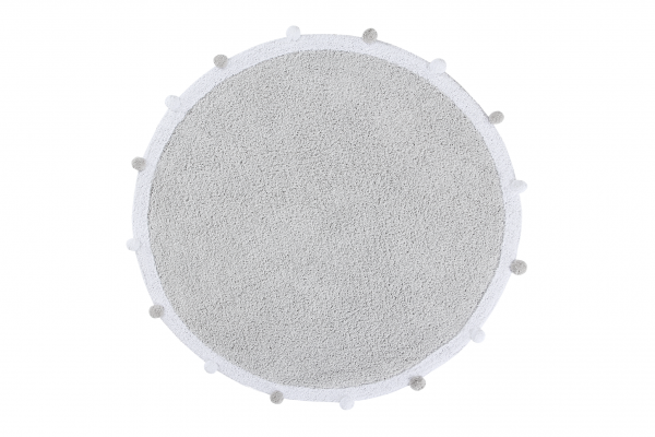 "Lorena Canals - Kinderzimmerteppich rund ""Bubbly Soft Grey"""
