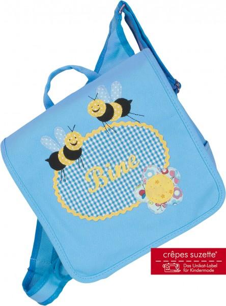 """crepes suzette - Kindergartentasche """"Bienen"""" hellblau"""