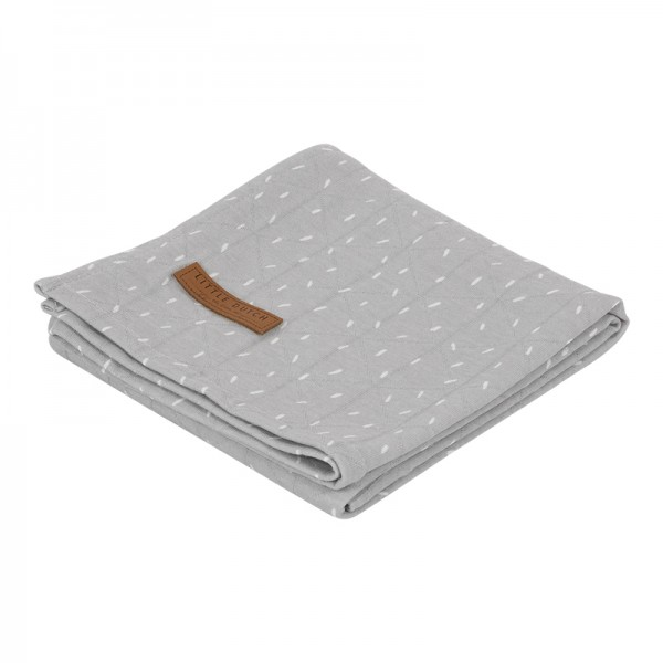 "Little Dutch - Swaddle Tuch ""Sparkle Grey"" 120 x 120 cm"