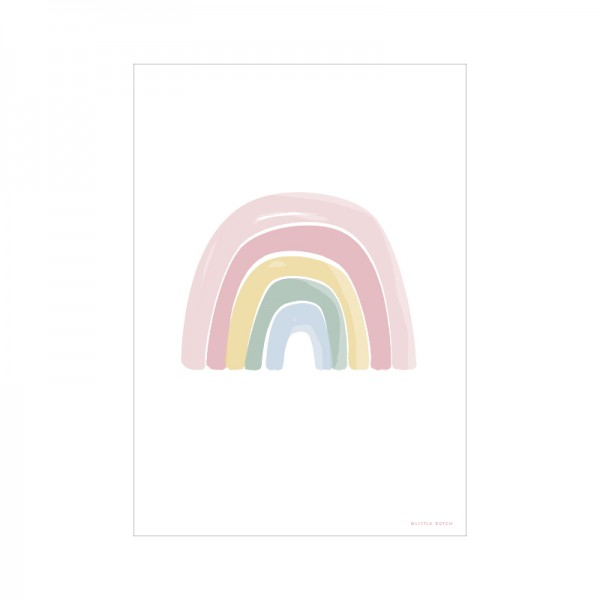 "Little Dutch - Wendeposter ""Regenbogen/ABC"" pink"